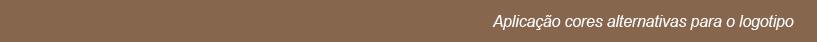 Aplicação cores alternativas para o logotipo