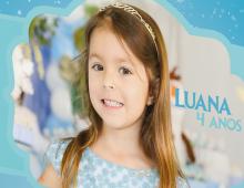Capa Álbum Luana – Tema Frozen
