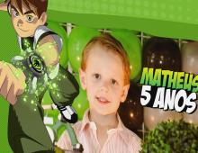 Capa Álbum Matheus – Tema Ben 10